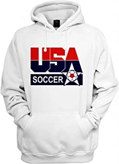 USA Retro Soccer Logo Hooded Sweatshirt