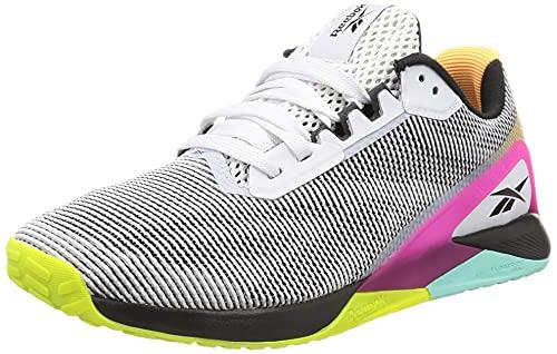 Reebok Nano X1 Grit, Zapatillas Deportivas Mujer, FTWBLA/NEGBÁS/PURPNK, 38.5 EU