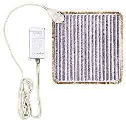 American Choice Infrared Amethyst Heating Pad - Pain Relief for Neck, Shoulder, Back, Cramps and Muscles - Hot Stone and Negative Ion Therapy Mat - Electric Portable Small Flexible (Small)