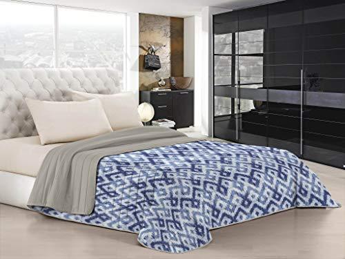 "Italian Bed Linen Edredón de Verano ""Fantasy"", Microfibra, rombi, Doble"