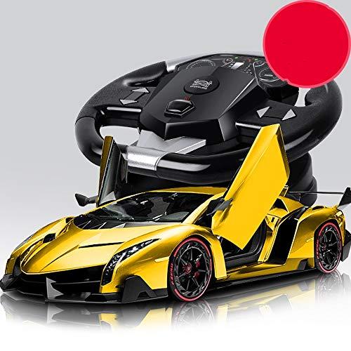 Lihgfw Großes elektrische Fernbedienung Auto Spielzeug Lade Drahtlose Fernbedienung Drift Racing Kinderspielzeugauto mit einem Klick Türöffnung Gravity Induktion Large Size Car Body Beste Geburtstags-