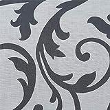 ESLIR Raffrollo ohne Bohren Raffgardine mit Ösen Gardinen Küche mit U-Haken Ösenrollo Halbtransparent Modern Weiß BxH 60x140cm 1 Stück - 2