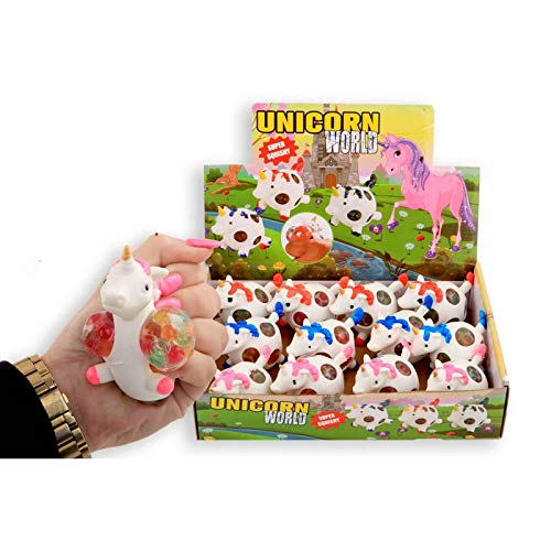wuselwelt - Pelota antiestrés para Fiestas Infantiles (4 Unidades), diseño de Unicornio