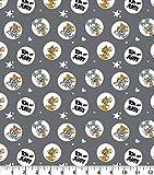 Tom & Jerry Kreise & Sterne Baumwollstoff - Comicfiguren,