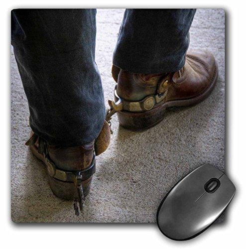3drose LLC 20,3 x 20,3 x 0,6 cm muis pad, man met Cowboy laarzen met sporen (MP 98397 1)