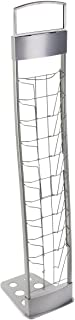 Portable Silver Floor Literature Rack Features 10 Pockets for Freestanding Displays and Carrying Case