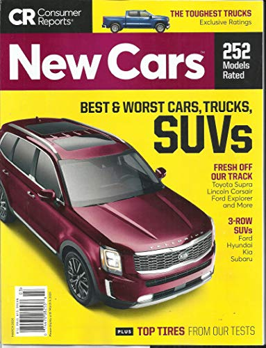 CR CONSUMER REPORTS MAGAZINE, BEST & WORST CARS, TRUCKS, SUVs MARCH, 2020 DISPLAY UNTIL MARCH, 09th 2020 ( PLEASE NOTE: ALL THESE MAGAZINES ARE PET & SMOKE FREE MAGAZINES. NO ADDRESS LABEL. FRESH FROM NEWSSTAND) (SINGLE ISSUE MAGAZINE)
