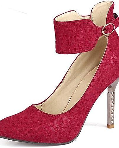 Ggx femme Chaussures Stiletto Talon Bout Pointu Sangle de cheville Pompe à Plus de couleur disponibles