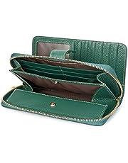 長財布 牛革 財布 レディース 大容量 ブランドさいふ 二つ折り スマホ入れ BOX型小銭入れ 2in1仕様 あり おしゃれ ハンドストラップ付き