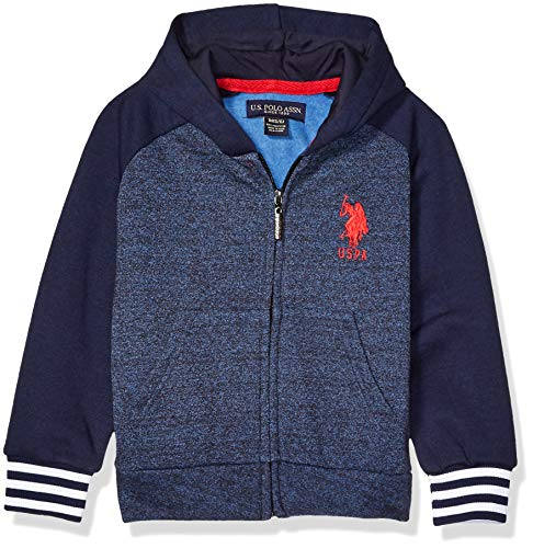 U.S Little Boys Boys Zip-Front Fleece Hoodie Sweatshirt US Polo Assn Polo Assn Boys 4-7 HB20