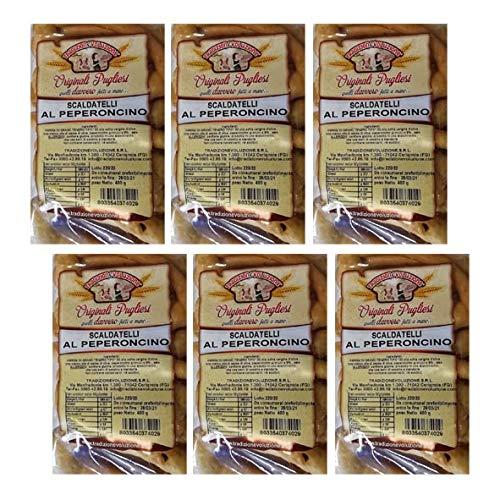 Taralli Pugliesi, Scaldatelli al Peperoncino di Foggia 6x400 gr, PAT Prodotto Agroalimentare Tradizionale