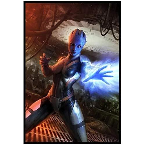 Wxueh Mass Effect 2 3 4 Pósteres E Impresiones De Juegos Arte De Pared Lienzo Cuadros De Pintura Para Decoración De Sala De Estar-50X70Cmx1Pcs-Sin Marco