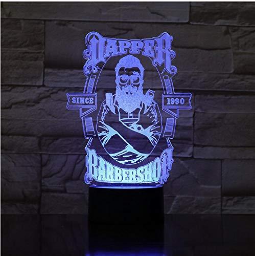 Barber Shop 3D LED nachtlampje romantische slaapkamer tafellamp Valentijnsdag geschenken voor liefhebbers koppels jongens kinderen slaaplicht afstandsbediening Bluetooth Bluetooth besturingskleur