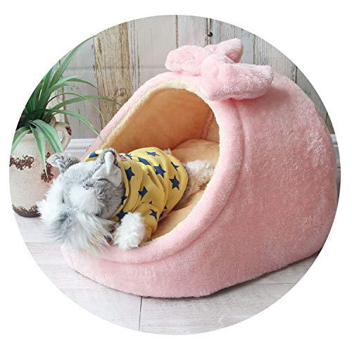 ZZmeet Huisdier Bed Hond Huis Kennel Doggy Warm Kussen Mand voor Kleine Medium Honden Mode Aardbei Cave Kat Tent Puppy Nest Mat, 45x41x28cm, Blueshark