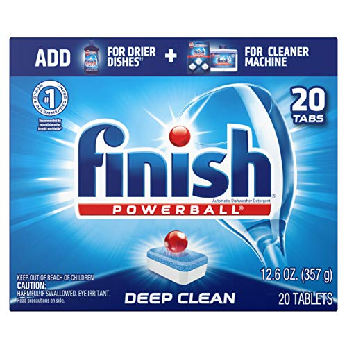 Finish All in 1 Powerball Fresh, 20ct, Dishwasher Detergent Tablets