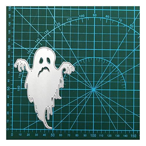 2019 Halloween Stirbt Spinnennetz Metall Stanzformen Schädel Geist Gestanzte Schablone für DIY Scrapbooking Papier Karte Handwerk Vorlage, Gespenst stirbt