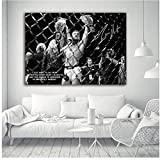 zxianc UFC Conor McGregor Celebrate with his Two Championship Belt Wall Picture Canvas Art Print Stretched Print on Canvas -50x75cm No Frame