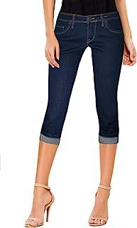 HyBrid & Company Women's Denim Capri Stretchy 19 inch/17...