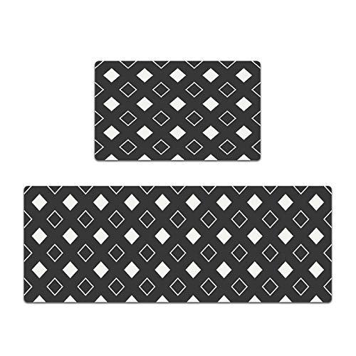 VOVTT Carvapet Alfombrillas De Cocina Antideslizantes Respaldo De Goma Felpudo Lavable Juego De Alfombras De Microfibra,45x75cm【Edge Banding】