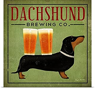 GREATBIGCANVAS Entitled Dachshund Brewing Co Poster Print, 24