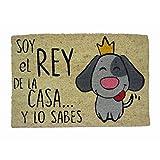 koko doormats, COLECCIÓN Perro, Felpudo Divertido y Original para Entrada de Casa, PVC, Coco, 40 x 60 cm (Perro Rey)