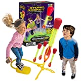 The Original Stomp Rocket Ultra Rocket LED, 4 Rockets - Outdoor Rocket Toy Gift for Boys and Girls- Comes with Toy Rocket Launcher - Ages 6 Years and Up