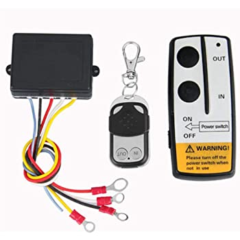 Amazon Com Yuangang Universal Wireless Winch Remote Control Kit 12v 50ft 2 Remotes With Indicator Light Car Detector For Truck Jeep Atv Suv Home Improvement