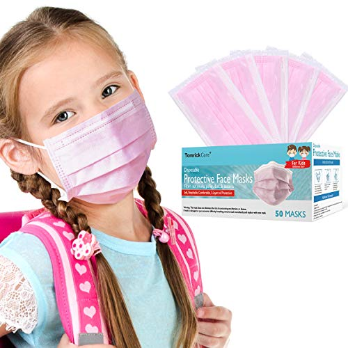 Individually Wrapped Face Masks for Kids 50 PCS $16.65 (55% OFF)