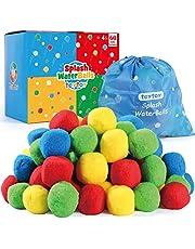 كرات مائية ماي فيرست فايت، كرات مياه سبلاش مع حقيبة للأطفال والكبار في أي وقت، ألعاب ممتعة في حمام السباحة والشاطئ مثالية للعب في الهواء الطلق (60 قطعة) من تي توي