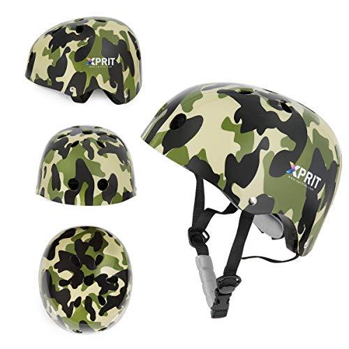 Read About XPRIT Skateboarding, Scooter, Bike, Helmet w/Impact Resistance (Camouflage, Medium)