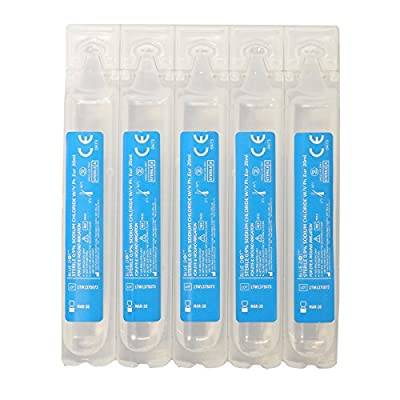5x CMS Medical First Aid Sterile Sodium Chloride 20ml Refill Wound Eye Wash Pods from CMS