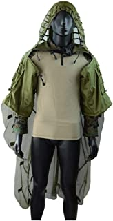 Image of WJ Hunting Suit,Birdwatching Poncho, Ghillie Suit Geely Clothing Camouflage Cloak Camo Leaf Leaves Sniper Set Yowie Clothes,for Cs Woodland Games Army Adult 3D Outdoor Encryption Reinforcement