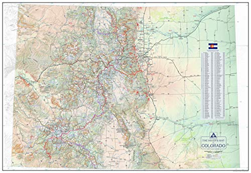 Outdoor Trail Maps The Hiker's Map of Colorado - Wall Poster Map
