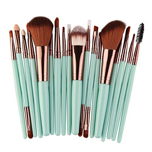 18 Ensemble De Outils Maquillage Trousse Toilette Pinceaux Maquillage Set Fondation Yeux Visage Poudre Brosse CosméTiques Pinceau Professional Kit,MNRIUOC Beaute