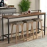 liushop Bartische & -theken Hohe Bar-Tisch-Home-Schmiedeeisen-Bar schmaler Tisch gegen den Bar-Tisch Küchentisch (Color : 140 * 40 * 105cm)