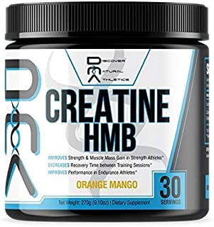 Creatine HMB - Discover Natural Athletics - DNA - Creatine + HMB for Men and Women, Increase Muscle Size and Strength, Imp...