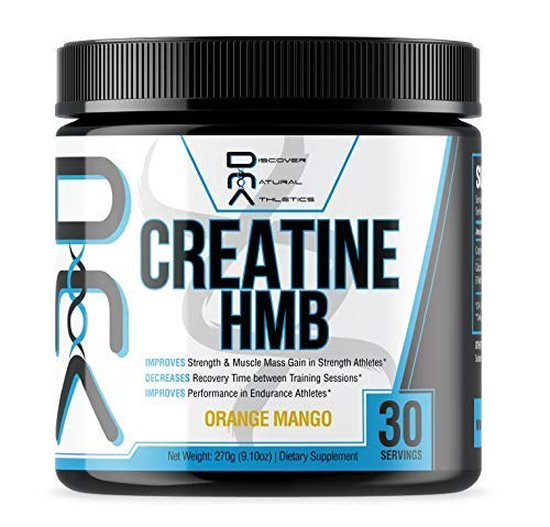 Creatine HMB - Discover Natural Athletics - DNA - Creatine + HMB for Men and Women, Increase Muscle Size and Strength, Improve Workout Recovery - 30 Servings