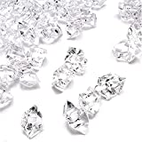 The Dreidel Company Fake Acrylic Diamonds, Crushed Ice Rocks, Plastic Ice Cubes, Rock Diamond Crystals, Gems for Party Decoration, Vase Fillers, Photography Props (Clear, Half-Pound)