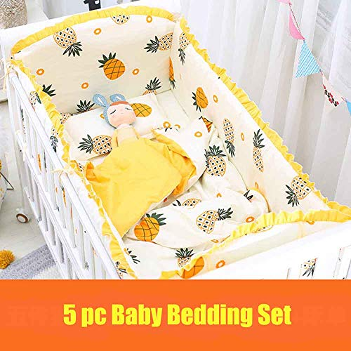 ZHAOYUYU Baby Bettwäsche, Kinderbettwäsche 5 TLG. 70 X 120cm Bettwäsche Bettset Babybettwäsche 5-teilig Für Babybettchen Bettumrandung: 120 X 70 X 360 cm