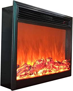 Fireplaces Wall-Mounted Electric, Overheat Protection, Black Glass Screen 750~1500W, 220V Programmable Remote Control.