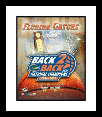 2006 and 2007 Florida Gators Back 2 Back NCAA Framed Photograph Champions