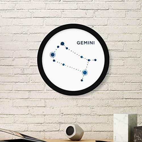 DIYthinker Gemini sterrenbeeld teken dierenriem ronde fotolijst kunst afdrukken van schilderijen thuis muursticker cadeau