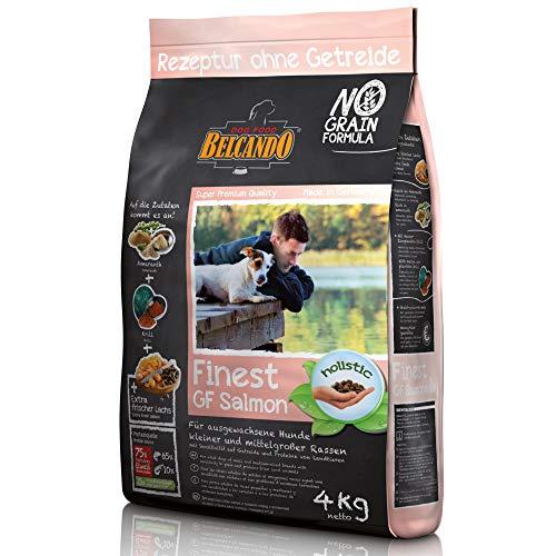 Belcando Finest GF Salmon [4 kg] getreidefreies Hundefutter | Trockenfutter für kleine & mittlere Hunde | Alleinfuttermittel für Hunde ab 1 Jahr