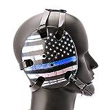 Geyi Wrestling Headgear Thin Blue Line American Flag Digital Printing Art