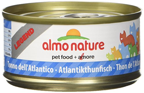 Almo Nature Megapack Tonno dell'Atlantico-Cibo umido naturale per gatti adulti (6 x 70gr-lattina)
