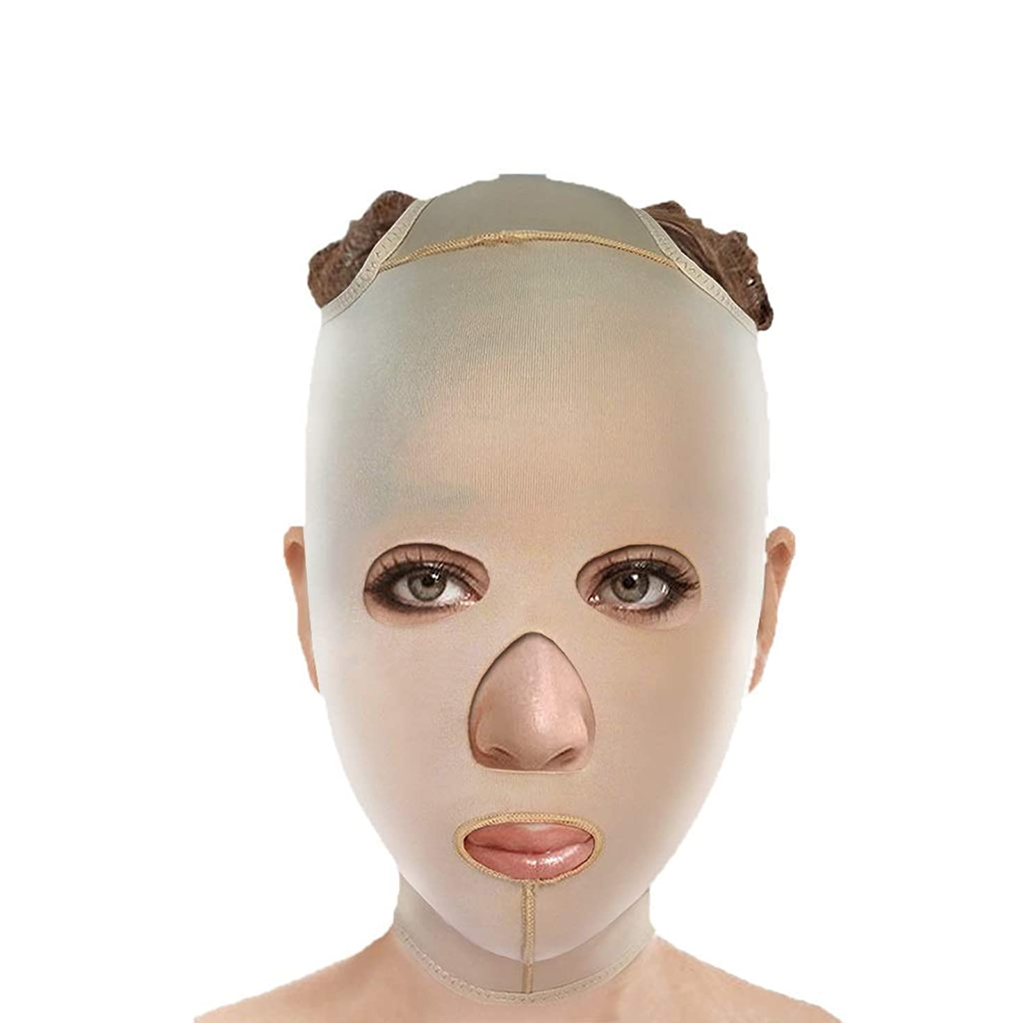 ちょうつがいハイランドバランスチンストラップ、フェイスリフティング、アンチエイジングフェイシャル包帯、フェイシャル減量マスク、ファーミングマスク、フェイシャルリフティングアーティファクト(サイズ:S),M