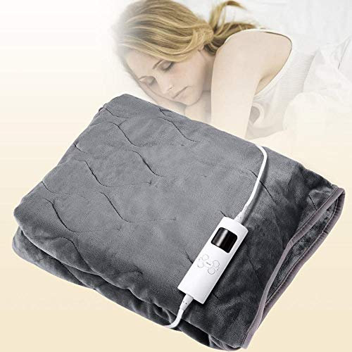 Electric Throw Blanket, Heated Over Blanket, 6 Heat Settings & 3 Time Settings, Overheat Protection & Automatic Shut-Off, Washable Soft Fleece Blanket 130x160cm