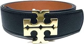 Tory Burch Reversible Logo Belt Black Tiger's Eye Brown - Size Small 56440