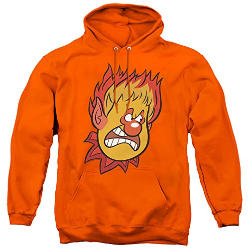 The Year Without A Santa Claus Heat Miser Unisex Adult Pull-Over Hoodie for Men and Women, 2X-Large Orange