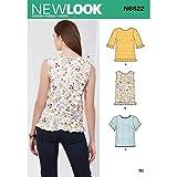 New Look N6622 - Cartamodello per top da donna, colore: bianco, vari